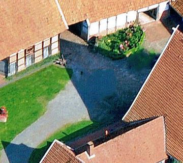 Ferienhof Roehsmann Badbergen Innenhof - Luftbild