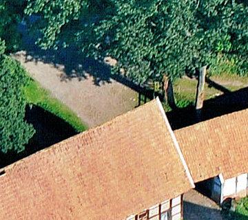 Ferienhof Roehsmann Badbergen Hofzufahrt - Luftbild