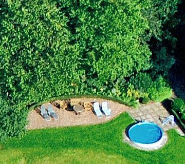 Ferienhof Roehsmann Badbergen - Pool - Luftbild